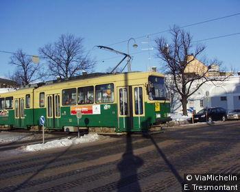 Le tramway qui traverse la capitale