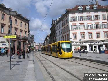 Le tramway flambant neuf de Mulhouse