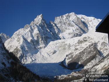 Courmayeur est niché au pied du Mont Blanc