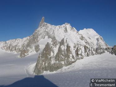 Entre Courmayeur et Chamonix, la