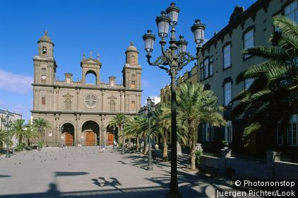 Cathedral in oldtown, Vegueta, Las Palmas, Gran Canaria, Canary Islands, Spain