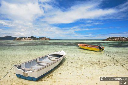 La Passe waterfront, La Passe, La Digue island, Seychelles