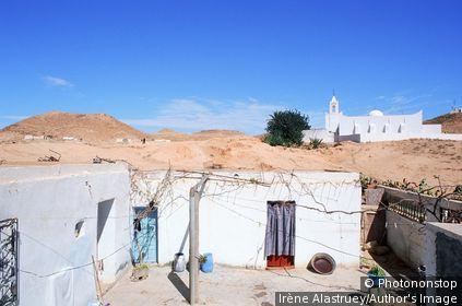 Tunisie - Le Sud - Région du Jebel Dahar - Matmata - maison troglodytique