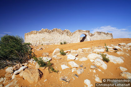 Tunisie, désert, Ksar Ghilane, fort romain