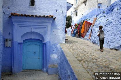 Maroc, Chefchaouen , ruelle dans la medina