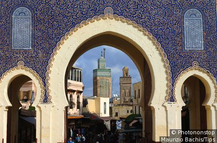 Morocco, Fes, old city, gateway