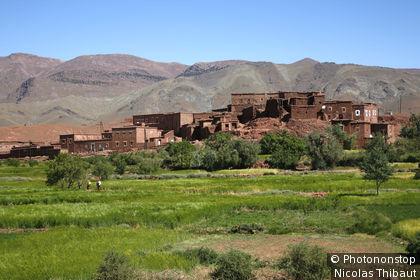 Maroc, haut Atlas, vieux village de Telouet près du col de Tichka