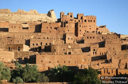 Maroc, région de Ouarzazate, ksar et Kasbah des Ait Benhaddou (patrimoine mondial de l'Unesco)