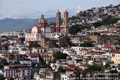 Taxco, Guerrero, Mexico. Mexico, Guerrero, Taxco. Old Silver mining town of Taxco.