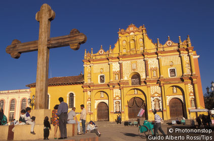 Mexico, Chiapas, S. Cristobal. The Cathedral