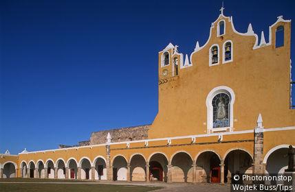 Mexico,Yucatan,Izamal,Convent of San Antonio de Padua