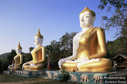 Thailand,Hua Hin,Eitisukato Temple,Buddha Statues