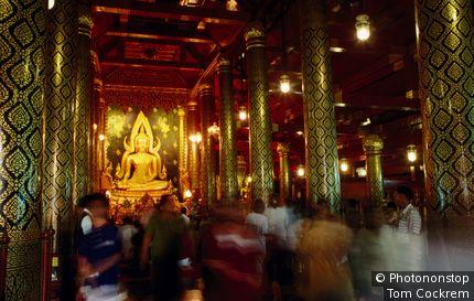 Chinarat Buddha at Wat Phra Si Ratana. Phitsanulok, Phitsanulok, Thailand