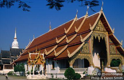 Exterior of Wat Phra Singh. Chiang Mai, Chiang Mai, Thailand