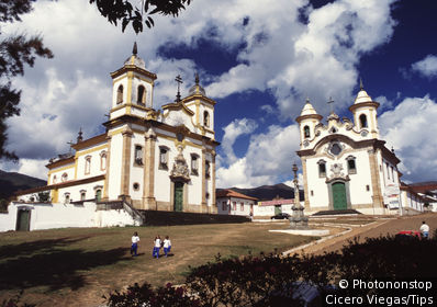 Sao Francisco de Assis and Nossa Senhora do Carmo Church, Mariana City, Minas Gerais, Brazil