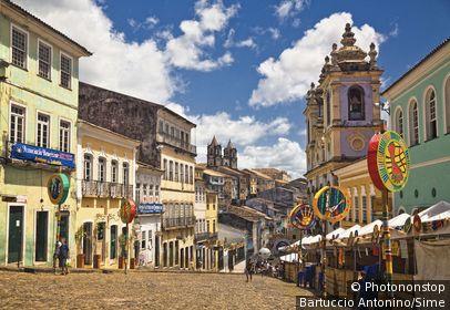 Brésil, Bahia, Salvador - Pelourinho old town, carnival