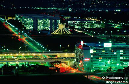 Brasilia at night. Brasilia, Distrito Federal - Brasilia, Brazil