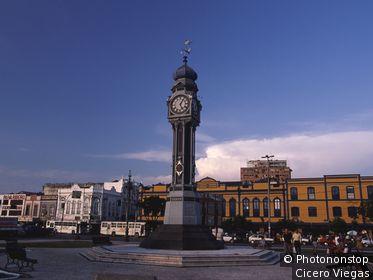 Clock square, Belem city, Para State, Brazil