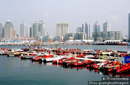 View of Qingdao International Marina, one of the venues of the Beijing 2008 Olympic Games, in Qingdao, east Chinas Shandong province 12 January 2007.