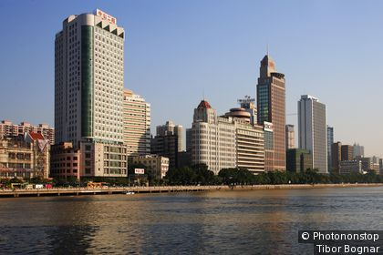 Chine, Province de Guangdong , Canton, skyline, rivière Pearl
