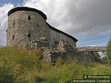 ruins of old Castle of Raasepori Raseborg in Snappertuna Finland.