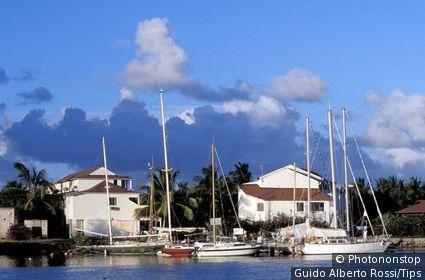 Guadeloupe Island, Pointe a Pitre, small marina