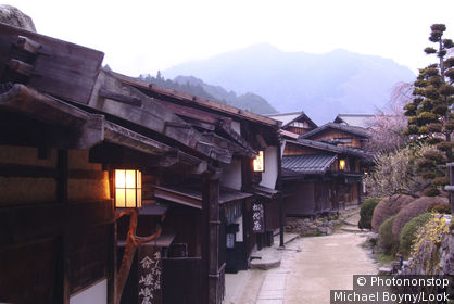 Road in Tsumago, Kiso Valley, Nagano-ken, Japan