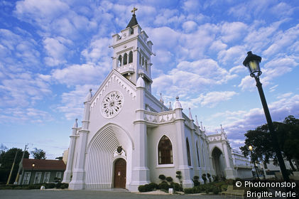 République Dominicaine, San Pedro de Macoris, cathédrale San Pedro du debut du 20ème s.