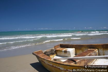 Boat at beack of Cabarete