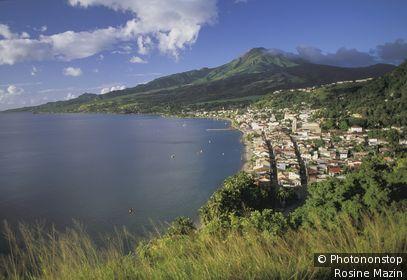 Martinique, Nord, Baie de St Pierre