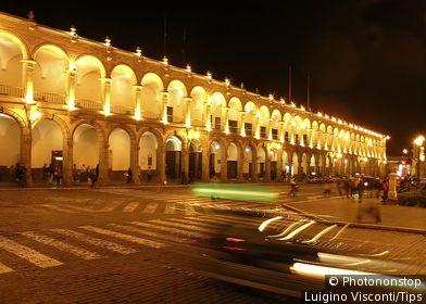Peru, Arequipa, Plaza de Armas.