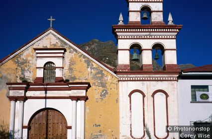 Church in Plaza San Juan de Dios. Huancavelica, Huancavelica, Peru