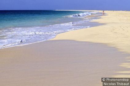 Archipel du Cap Vert (Cabo Verde), ile de Sal, plage de Santa Maria