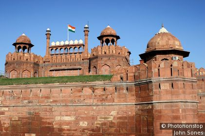 Red Fort (Lal Qila) Complex. Delhi, National Capital Territory of Delhi, India