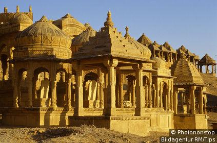 Grabmal von Bada Bagh, Jaisalmer, Rajasthan, Indien