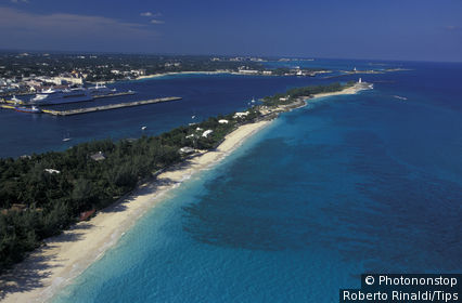 Bahamas, aerial view of Nassau