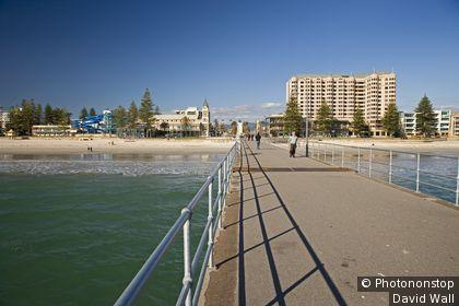 Glenelg pier. Adelaide, South Australia, Australia