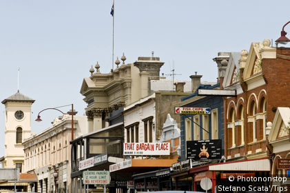 Australia, antique buildings in Vincent street, Daylesford