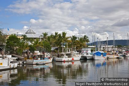 Australia, Queensland. A section of the harbour at Port Douglas in Northern Queensland.