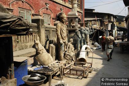 Inde, Bengale Occidental, Calcutta (Kolkata), Kumartuli, quartier des sculpteurs