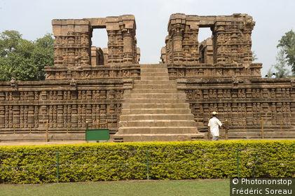 Inde, Sud-Est de la région de l'Orissa, Konarak, le temple du Soleil, le natamandapa ou natamandir, le temple de la danse