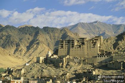 Inde, Jammu et Kashmir, Ladakh, Leh, vue générale