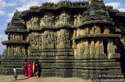 India;Karnataka;Halebid - The 12th Century Hoysaleshvara temple, built by the ruling Hoysala dynasty, boasts an immense amount of intricate carving