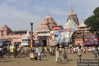 Inde, Sud-Est de la région de l'Orissa, Puri, Jagannath temple
