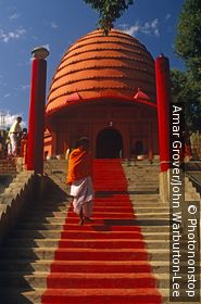 India, Assam, Guwahati. The Navagraha Temple, or temple of the nine planets, is an ancient seat of astrology.