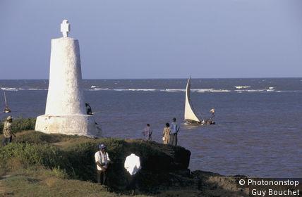 Kenya, Malindi, cote de l'océan indien, monument dédié à Vasco de Gama sur la route de l'Inde