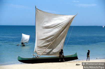 Madagascar, Morombe, typical boat