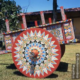 Costa Rica, Sarchi, Holzkarren, bemalt Zentralamerika, Zentrale Hochebene, Karren, Pferdewagen, bunt, Bemalung, Handwerk, Kunsthandwerk, Tradition