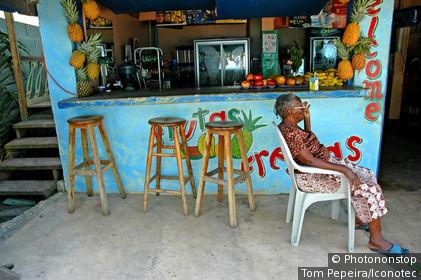 Costa Rica, côte caraïbes, Puerto Viejo, café local