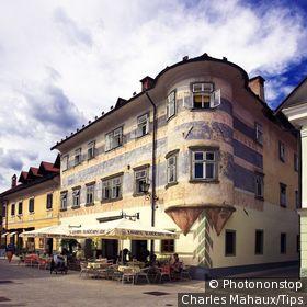 Slovenia, Radovljica, cafe